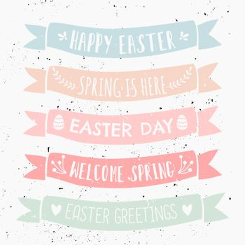 Easter Typographic Design Banners