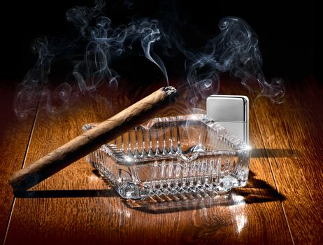 Cigar and lighter