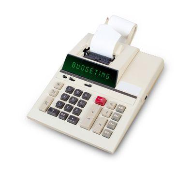 Old calculator - budgeting