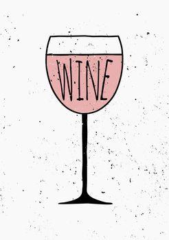 Hand Drawn Wine Poster
