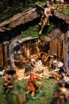 Traditional christmas crib