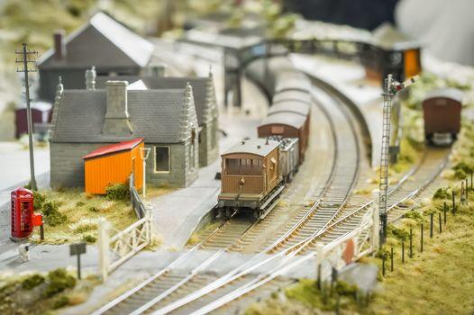 model railway station