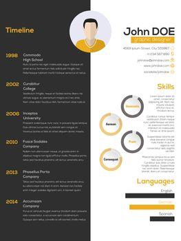 Contrast resume cv design
