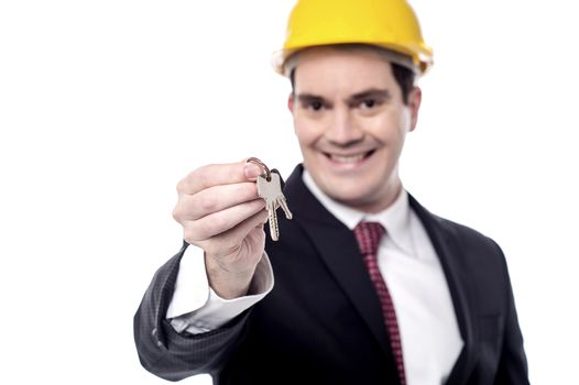 Take your new house key.