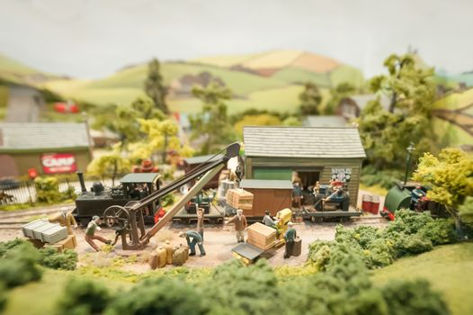 model freight yard