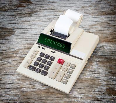 Old calculator - earnings