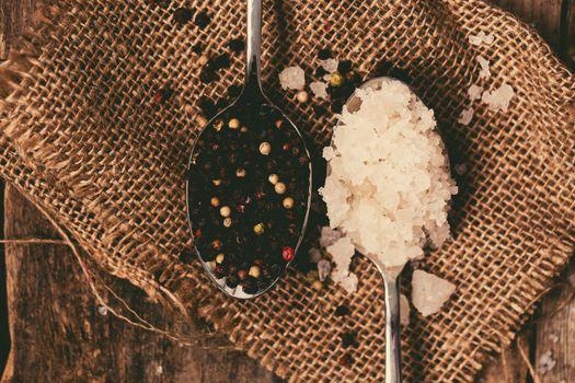 Sea salt and peppercorn