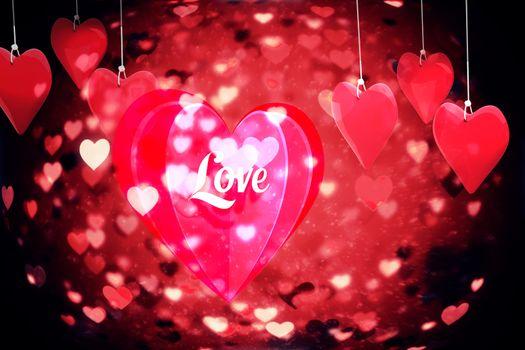 Love heart against valentines heart design