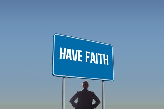Have faith against blue sky