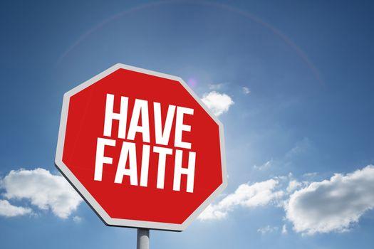 Have faith against cloudy sky with sunshine