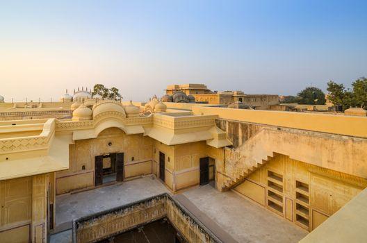 Courtyard inside Nahargarh Fort in Jaipur