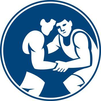 Wrestlers Wrestling Circle Icon