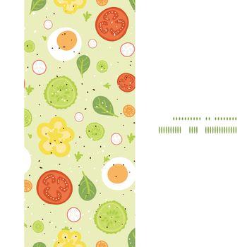 Vector fresh salad vertical frame seamless pattern background graphic design