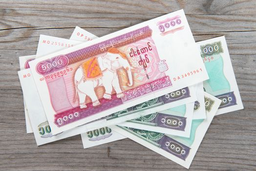 Myanmar kyat bank notes