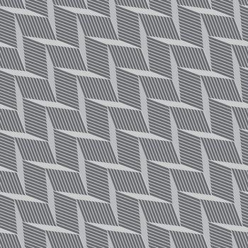 Monochrome pattern with gray braid grid