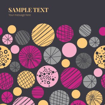 Vector abstract textured bubbles horizontal frame seamless pattern background graphic design
