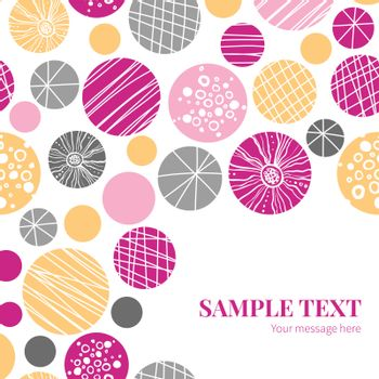 Vector abstract textured bubbles frame corner pattern background graphic design