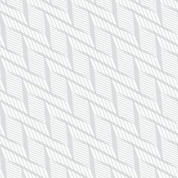 Monochrome pattern with light gray braid grid on white