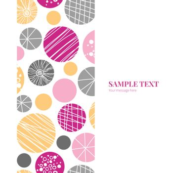 Vector abstract textured bubbles vertical frame seamless pattern background graphic design