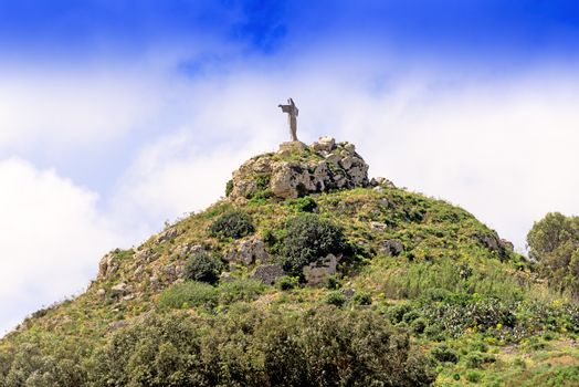 Statue of Christ the saviour in Gozo