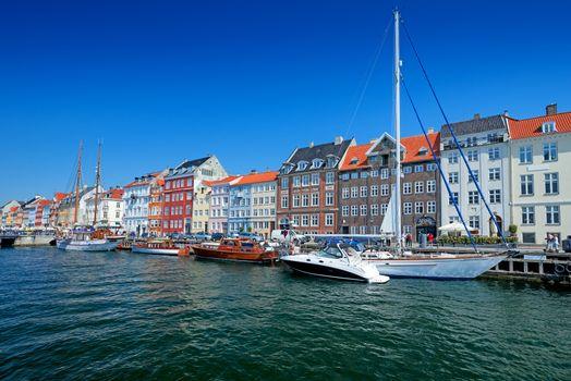 Nyhavn chanel in Copenhagen Denmark
