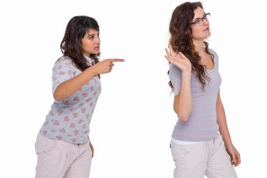 Casual friends quarreling together