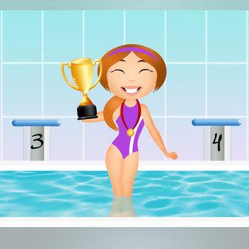 swimming champion