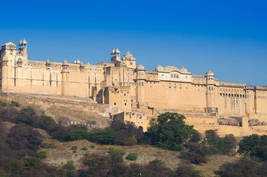 Landscape of Amber Fort in Jaipur