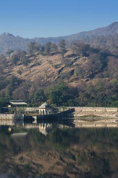 Pavilion with Landscape of Amber Fort in Jaipur