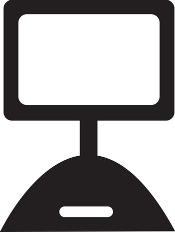 Black and white vector illustration of picket sign