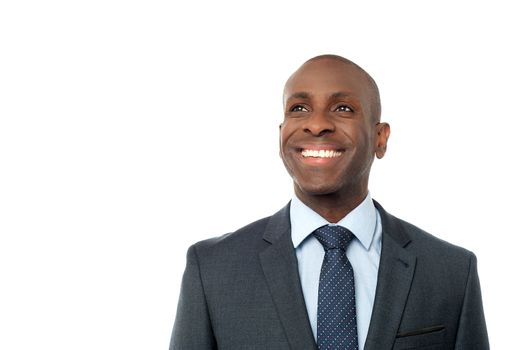 Portrait of smiling business executive