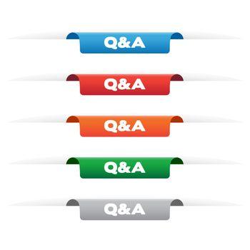 Q&A paper tag labels
