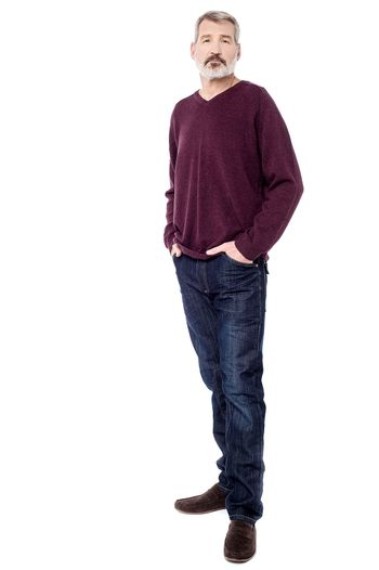 Casual dressed man isolated over white