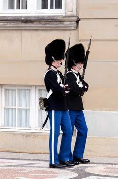 Royal guard at Amalienborg Slot
