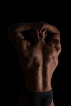 Huge bodybuilder back.