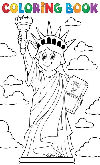 Coloring book Statue of Liberty theme 1