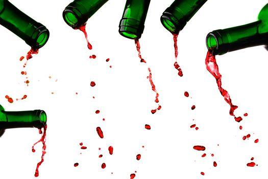 Last red wine drops