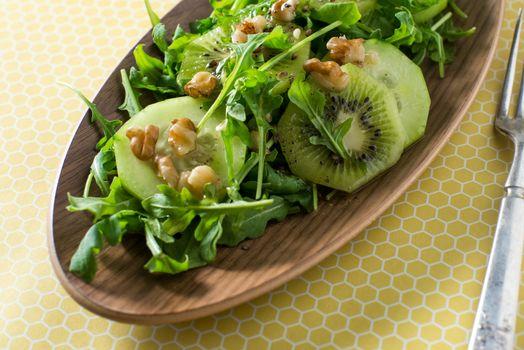 Kiwi and Arugala salad bitter sweet