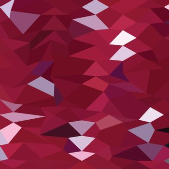Low polygon style illustration of a carmine red abstract background.