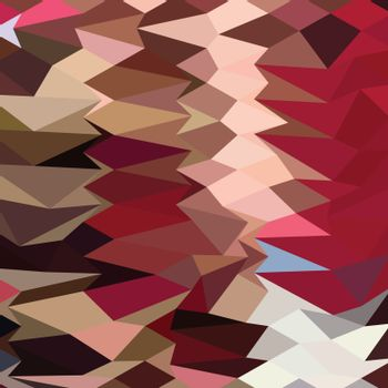 Vermillion Abstract Low Polygon Background
