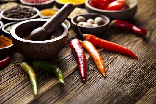 Cooking ingredient,spice, orintal cuisine vivid theme