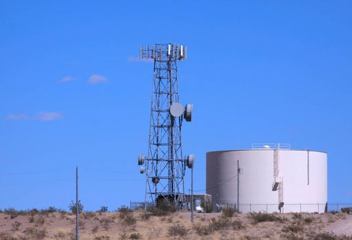 Communication tower and water tank