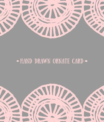 Abstract Ornate Greeting Card Template