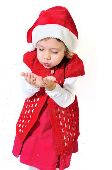funny santa helper making a little miracle