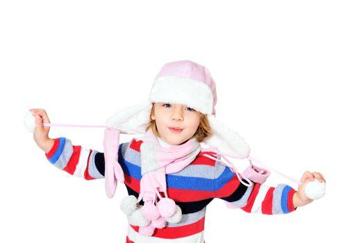 little girl is ready to meet winter