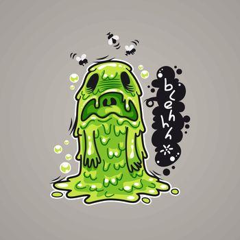 Cartoon Nausea Monster