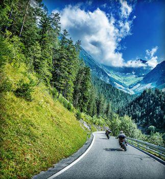 Traveling on motorbike
