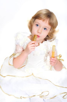 little princess wanting to use lipstick