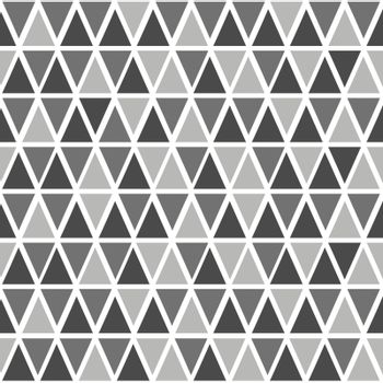 Abstract seamless pattern with triangles in different shades of gray.
