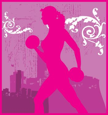 Weights Woman Pink